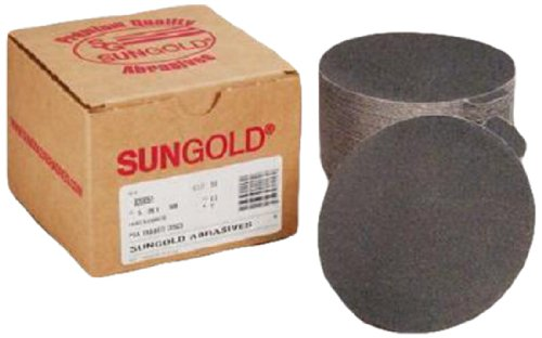 Sungold Abrasives 020105 5'' 180 Grit Psa Sanding Discs Silicon Carbide Cloth For Stone, Glass And Marble, Pack-50
