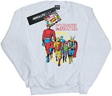 Marvel Comics Herren Atlas Group Sweatshirt Weiß Small