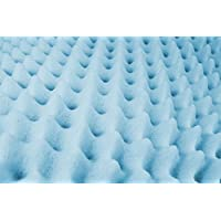 Essential Medical Supply Convoluted Foam Bed Pad for Hospital or Extra Long Twin Beds, 3 Inch