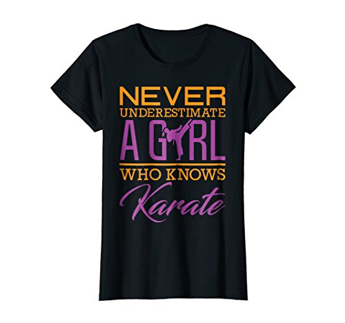Never Underestimate A Girl Who Knows Karate Shirt Gift Girl