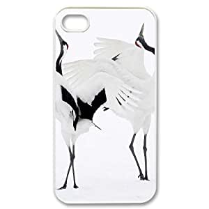 Hard Shell Case Of Red crowned Crane Customized Bumper Plastic case For Iphone 4/4s