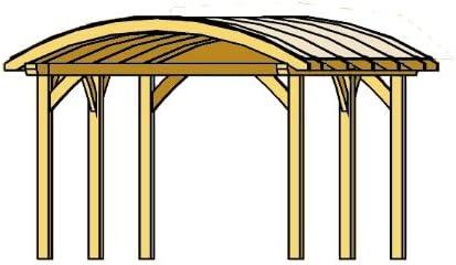 Cabaña Madera CarPort FRANKEN 635 x 541 cm cola para madera ...