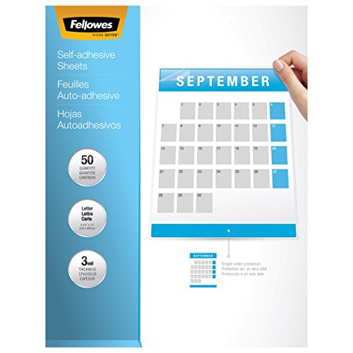 Fellowes 5221501 Self-Laminating Sheets, 3mil, 12 x 9 1/4 (Box of 10) by Fellowes