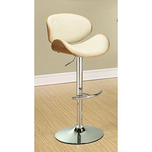 Coaster 130505 Home Furnishings Adjustable Bar Stool, Walnut/Ecru