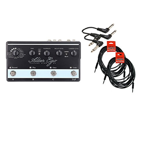 TC Electronic Alter Ego X4 Cable Bundle with 4 Items (Tc Electronics Tuner compare prices)