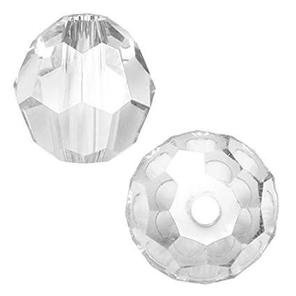 ef19f1e5d Amazon.com: Swarovski Crystal Round 5000 6mm CLEAR Beads (10) 544005: Arts,  Crafts & Sewing