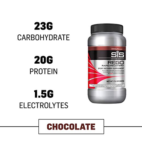 (Science in Sport Rego Rapid Recovery Protein Shake Powder, Chocolate Flavor Post Workout Supplement Drink - 1.25 lb)