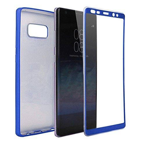 Merssavo Negro Escudo de Carcasa de Teléfono de Tres Etapas de Todo Incluido Para Samsung S8 azul
