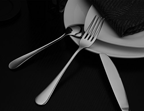 Hiware 12-piece Good Stainless Steel Dinner Forks Cutlery Set, 8 Inches by Hiware (Image #4)