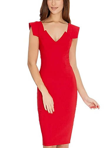 Ssyiz Women's Retro 1950s Style Cap sleeve Slim Business ...