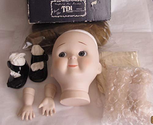 TDI Craft Set of 1 Porcelain 'Girl' Doll Head w Pate 4