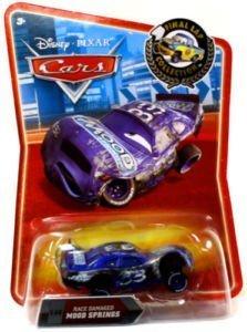 Disney / Pixar CARS Movie Exclusive 155 Die Cast Car Final Lap Series Race Damaged Mood - Springs Mood