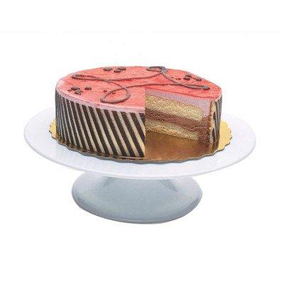 Paderno World Cuisine White Revolving Cake Stand