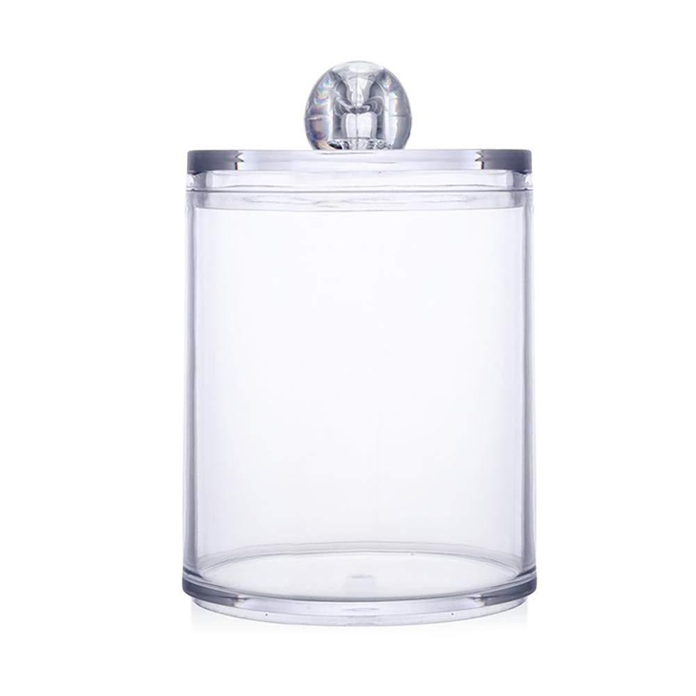 Double Layer Xiton 1PC Qtip Holder Dispenser Bathroom Clear Jar Organizer Plastic Acrylic Case For Cotton Balls,Cotton Swabs,Q-tips,Makeup Pads Storage