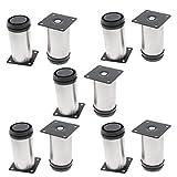 uxcell Kitchen Unit Cabinet 50mm x 100mm Adjustable Leg Stand Plinth 10pcs