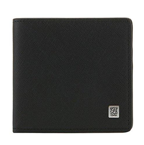 LQ LOUIS QUATORZE Men's Cow Leather Money Clip Wallet Black SG3AH04BL One Size