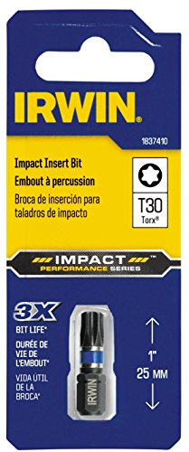 Irwin Tools 1837410 Impact Performance Series TORX T30 Insert Bit
