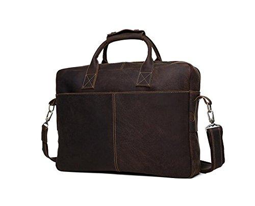 DJB/business-man Tasche Leder Herren tragbar Aktentasche dunkelbraun piyA0eg