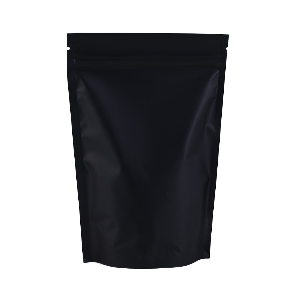 """100PCS Matte Double-Sided Colored Stand-Up 1.5oz Bags (10x15cm (4x6""""), Black)"""