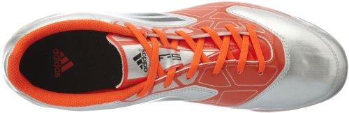 Adidas - Bottes Football DEntrainement Pour Hommes F5 TRX HG Clous Moulés CV21414 - Argent/Rouge, Caoutchouc, EU 44
