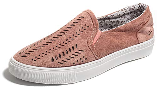 Paris Hill Women's Casual Hollow Loafer Canvas Flats Shoes Lpink US7.5