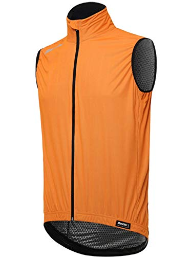 (Santini Flashy Orange 2018 Fashion Guard Sleeveless Cycling Jersey (M, Orange))