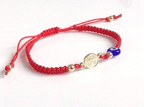 Red string bracelet kabbalah St Benedict evil eye adjustable mal de ojo protection bracelet