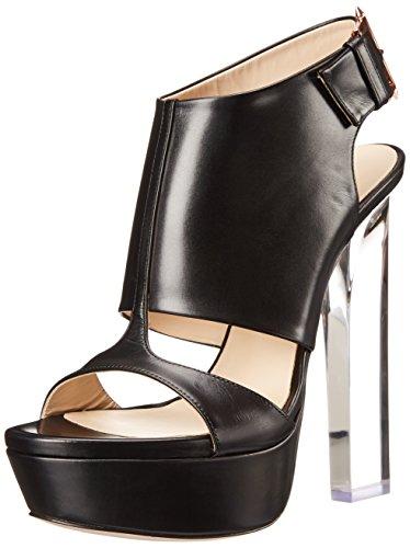 Ruthie Davis Women's Smile Platform Sandal Black/Clear