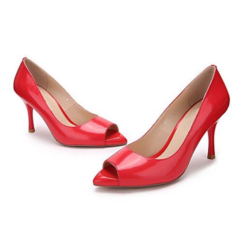 Pescado de Tacones HUAIHAIZ Red zapatos tacón verano Taiwán los hembra altosBoca zapatos sexy impermeable mujer The alto de de qwtdHnxYd