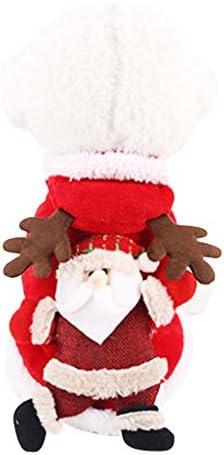DSDecor - Disfraz de Papá Noel para perros de Navidad, ropa de invierno para perros pequeños 6