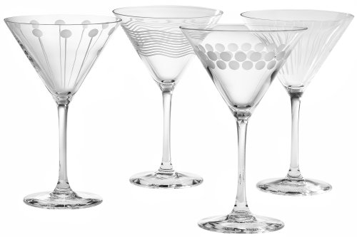 Mikasa Cheers Too 10-Ounce Martini Glass, Set of 4