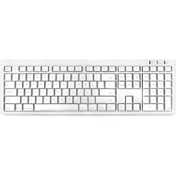 macally wireless bluetooth full size keyboard btkey for mac and pc white. Black Bedroom Furniture Sets. Home Design Ideas