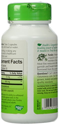 033674153000 - Nature's Way Parsley Leaf Capsules, 450 mg, 100-Count carousel main 4