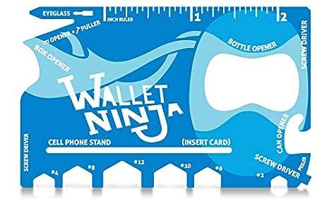 Wallet Ninja - Multiherramienta de tamaño de tarjeta de ...