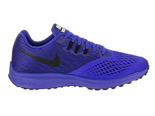 Nike Mens Zooma Winflo 4 Racer Blå / Svart Vit Löparsko 9,5 Män Oss