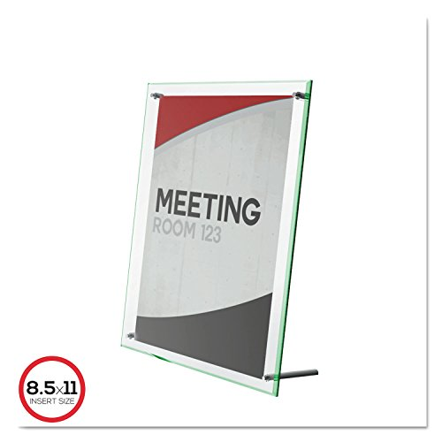 deflecto 799693 Superior Image Beveled Edge Sign Holder, Acrylic, 8 1/2 X 11 Insert, Clear - Edge Sign Holder