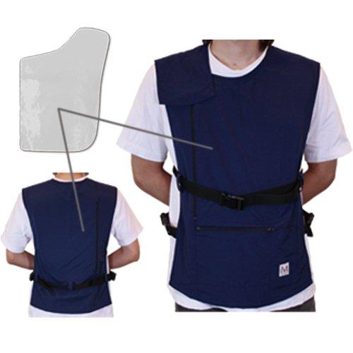 ペースメーカICD電磁波防護服「MGワークベストEX右胸用(ネイビー)溶接や高電圧施設に対応!2年間品質保証 B00NI9UO24 02 ペースメーカICDの位置(右胸)|04 MGワークベストEX(ネイビー)  02 ペースメーカICDの位置(右胸)