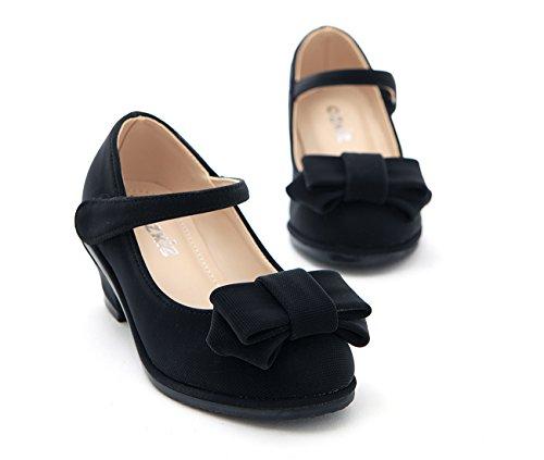 Mary Girls With Ozkiz Dress black S265 Shoes Ribbon Low Pumps Heels Jane OSHHWRq