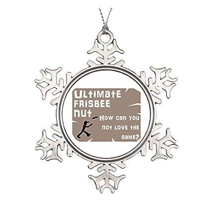 9f17da6d085ef Amazon.com: Ultimate Frisbee Nut Ceramic Round Christmas Ornament ...