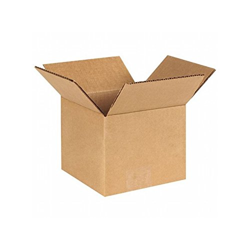 Box Packaging Corrugated Box, 6'' x 6'' x 5'', Kraft - Bundle of 25 by Box Packaging