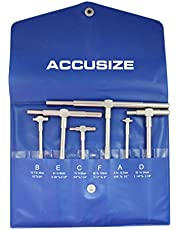 Accusize Industrial Tools 5/16'' - 6 Inch, 6 Pc Telescoping Gage with Self-Centring Double-Action System, 3602-5011