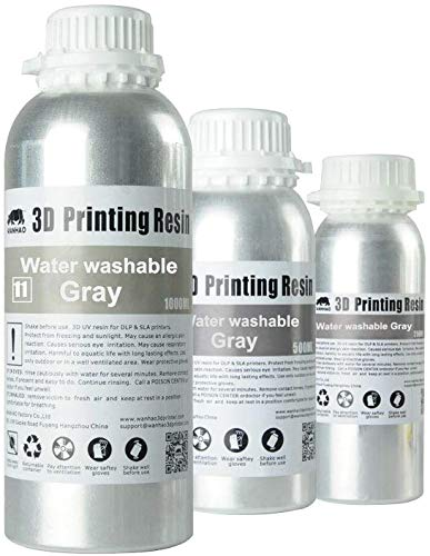 - Wanhao UV Cure 3D Printer Water Washable Resin (Gray)