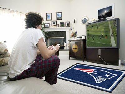 New England Patriots 4x6 Rug (New England Patriots 4x6 Rug - Licensed New England Patriots Gifts)