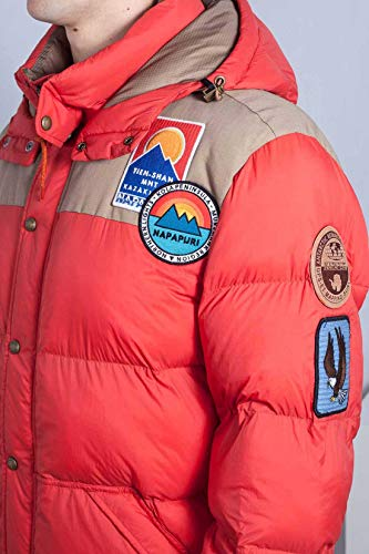 Arancio Rosso Con Artic1 Piumino Uomo Tqp4u7w Napapijri Patch qxTF4
