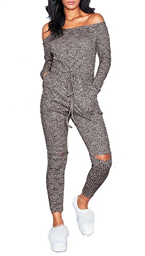 Playworld Womens Shoulder Drawstring Jumpsuit product image