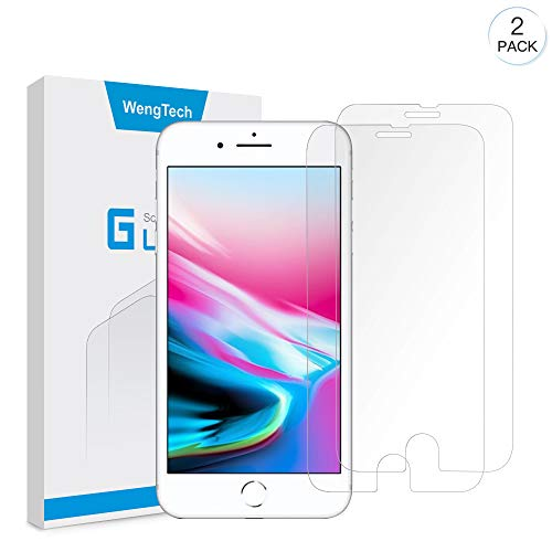 iPhone 8 Plus 7 Plus Screen Protector, WengTech 3D Curved 9H Hardness Bubble Free Anti-Scratch Touch Sensitive Tempered Glass Screen Protector Film for iPhone 8/7 Plus 5.5 inch (Clear, 2 Pack)