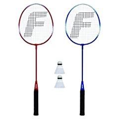 Add To Your Badminton Racquet Collection Or Replace Old Or Broken Racquets With This 2 Player Set From Franklin Sports. Each Set Comes Complete With (2) Metallic Tempered Steel Tight String Racquets And (2) A Grade Shuttlecocks.