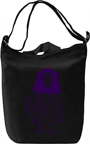 Doodle monkey Borsa Giornaliera Canvas Canvas Day Bag| 100% Premium Cotton Canvas| DTG Printing|