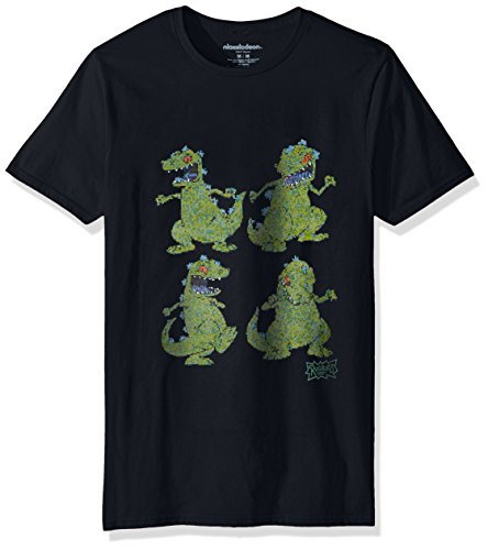 Nickelodeon Men's Rugrats Short Sleeve Graphic T-Shirt, Sports Black, - Sports 90s