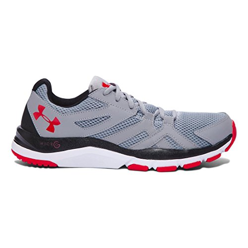 Under Armour Men's Strive 6 Training Shoes Cross Trainer, Black, M US Steel/Black/Red